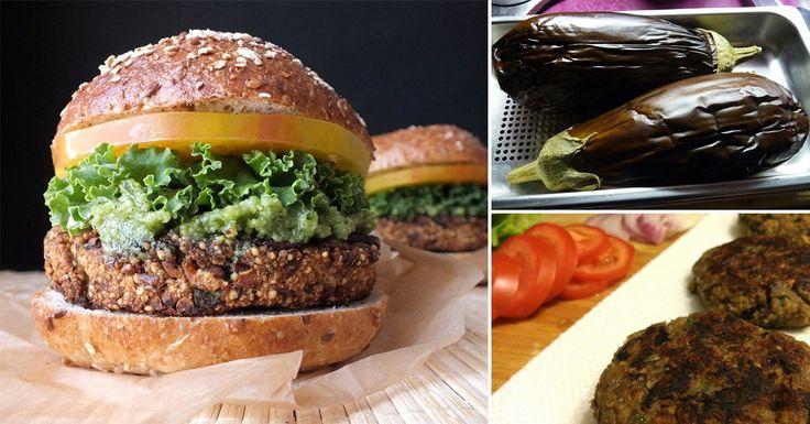 Hamburguesas+vegetarianas+de+berenjena