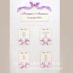 План рассадки гостей на свадьбе, схема расположения гостей за столами на свадебном банкете