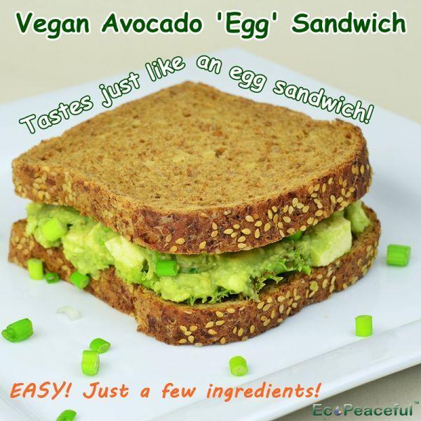 Vegan Avocado Egg Sandwich - Tastes Just Like Real Egg Sandwich without Eggs