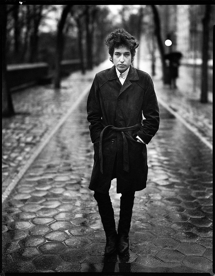 Richard Avedon: Bob Dylan, 10 February 1965. Central Park, New York.