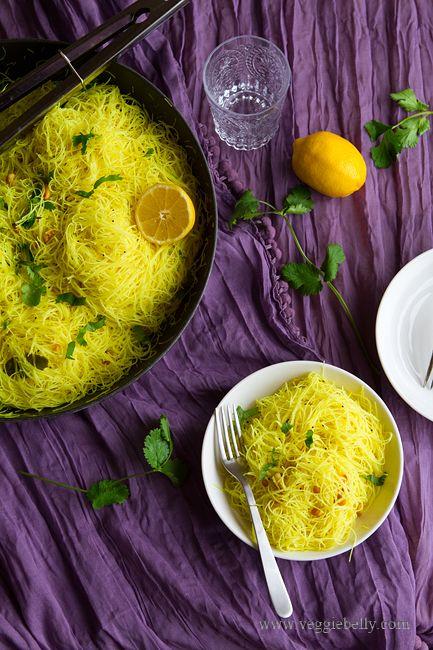 10 Minute Lemony Rice Noodles (Lemon Idiappam) ON a rainy day like today, this sounds sooo good!