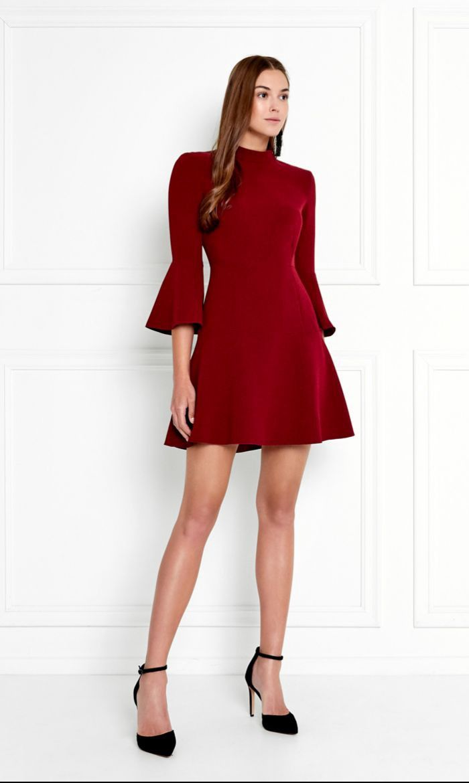 01313522a9 RACHEL ZOE Califa Bell-Sleeve Stretch-Crepe Mini Dress. #rachelzoe #cloth #