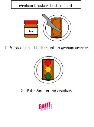 Graham Cracker Traffic Light - have done this one for years...we use icing and skittles due to allergies...printable recipe...they have many, many more...the apple tree is too cute...can't pin it though! Check them out!