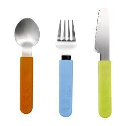IKEA - SMASKA, 3-piece flatware set,  ,  , , BPA free.