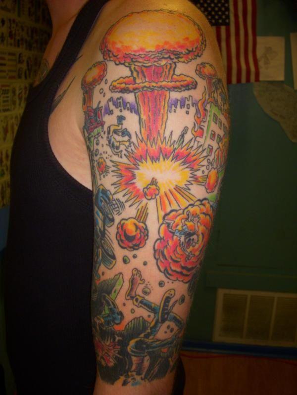 tattoo by jon reed all saints tattoo austin tx based on a bad religion ...