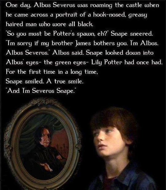 And I'm Severus Snape… Head Canon accepted.