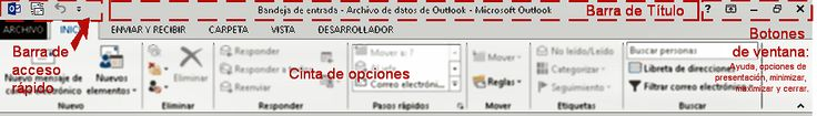 Barra de Titulo MS Outlook
