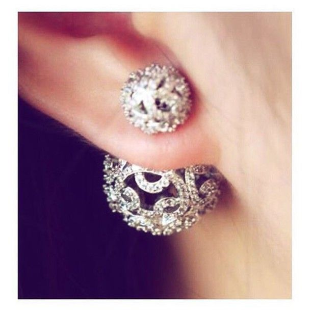 jewels body kandy couture double earrings filigree earrings two way earrings two…