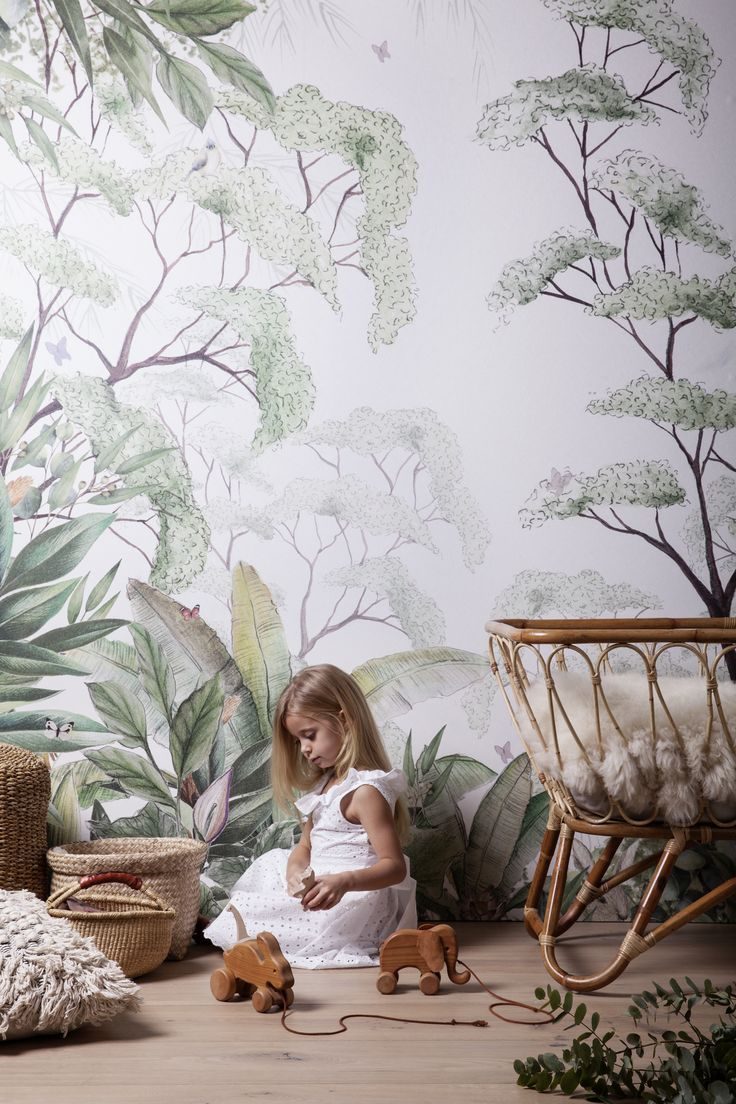 Kids wallpaper  Add a beautiful touch of nature. Forest walpaper #nursrey #wallpaper #wallmural #tapet #behang  The post Kids wallpaper appeared first on Woman Casual.