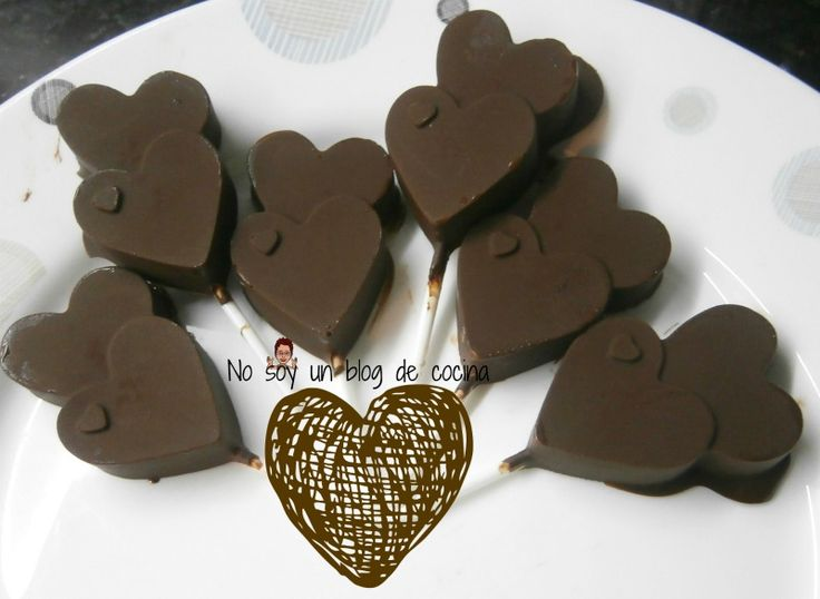 No soy un blog de cocina: Feliz día de San Valentín ♥ Piruletas de chocolate ♥