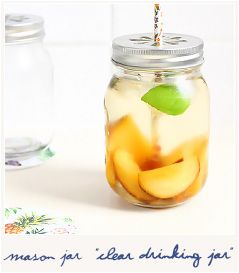 * Clear drinking jar