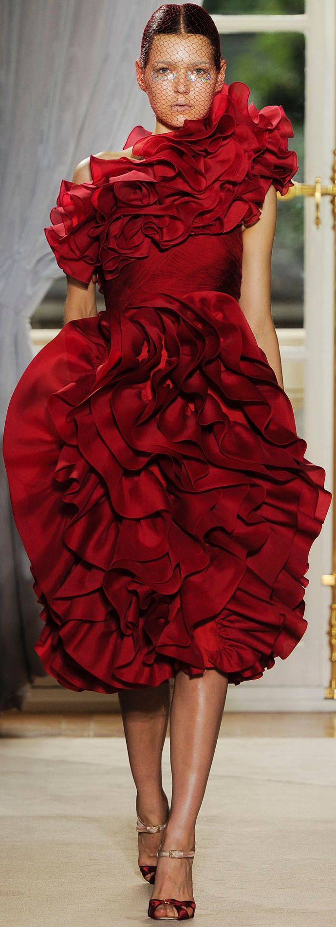 Giambattista. Love this shade of red. It's perfect!