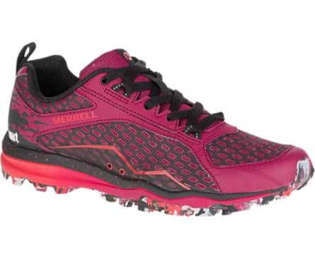 All Out Crush Tough Mudder, Beet Red - chaussures Merrell Trail légère, compromis