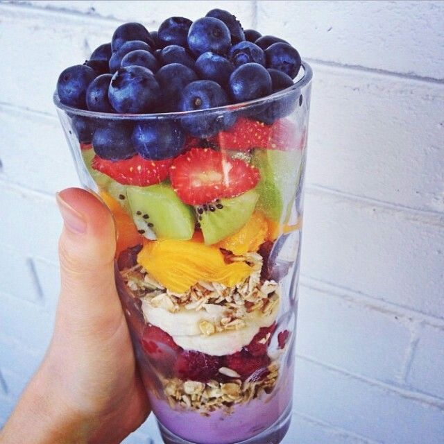 This is a great idea, more fruit than yogurt, less animal products and more natural!.. More fruit= more nutrients! I would opt for a greek yogurt or a coconut milk yogurt if adding in yogurt.