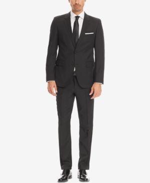 Boss Regular/Classic-Fit Super 120 Virgin Wool Suit - Black 42R