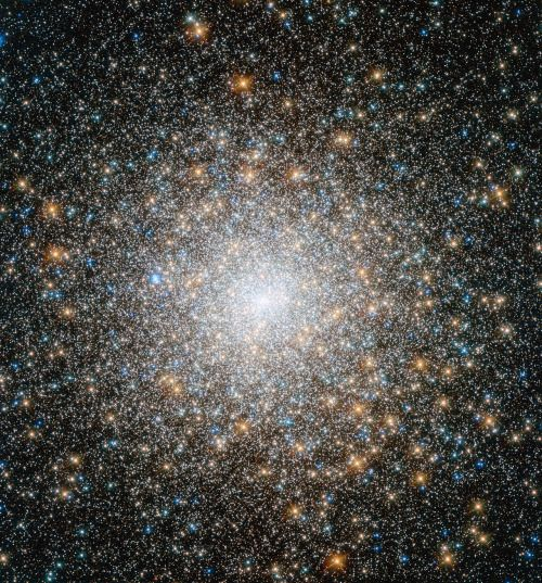 """distant-traveller: """" Hubble views an old and mysterious cluster """" The NASA/ESA Hubble Space Telescope has captured the best ever image of the globular cluster Messier 15, a gathering of very old stars that orbits the centre of the Milky Way. This..."""