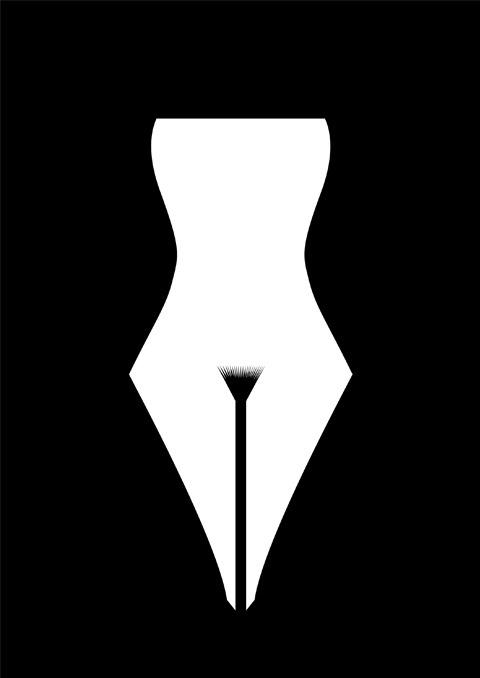 Erotic ink pen