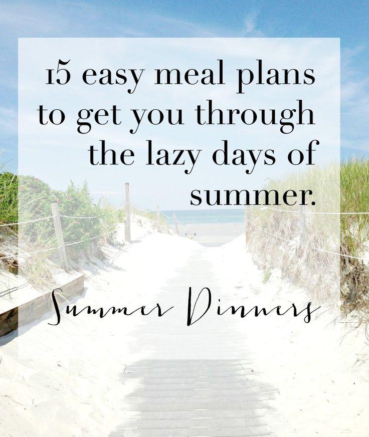 Easy summer dinner recipes for family