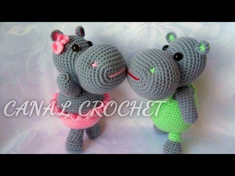 Amigurumis DIY: Hipopótamos simpáticos | Patrones para Crochet