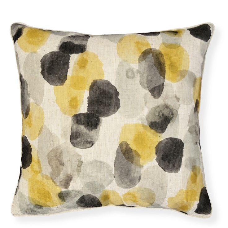 *ONLINE EXCLUSIVE* River Mustard Cushion 50cm