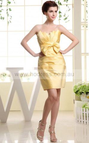 Satin  Empire Sheath Short Bridesmaid Dresses 0800012