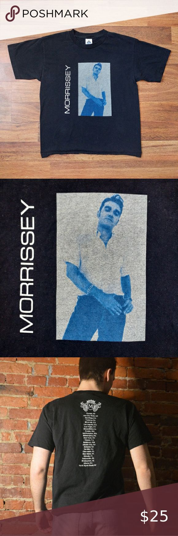 Vintage Morrissey Tour Band Tee The Smiths Band Tees Alstyle Apparel Tees