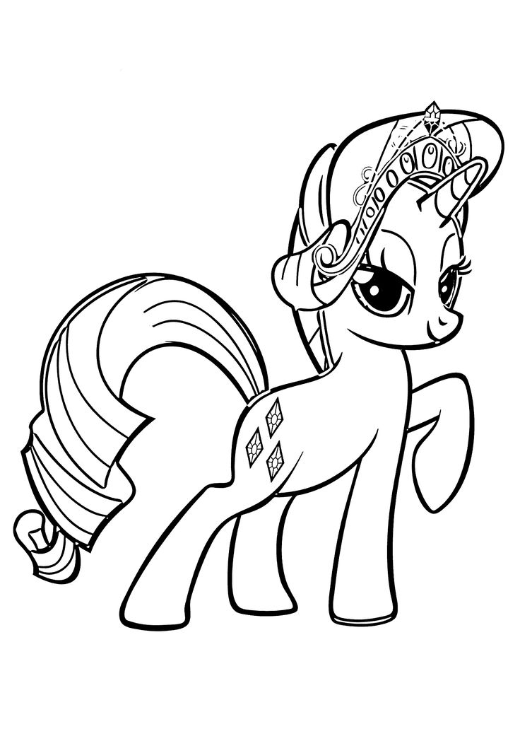 My Little Pony Coloring Pages Baby Rarity : Best images about my little pony on pinterest