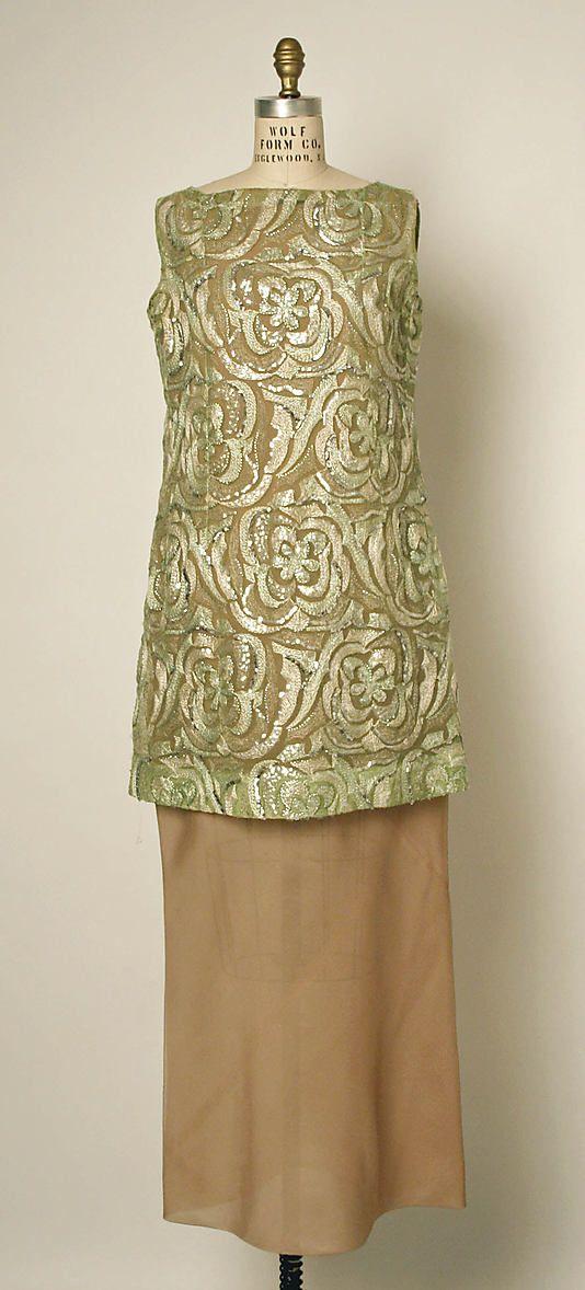 Evening dress, Balenciaga, 1968