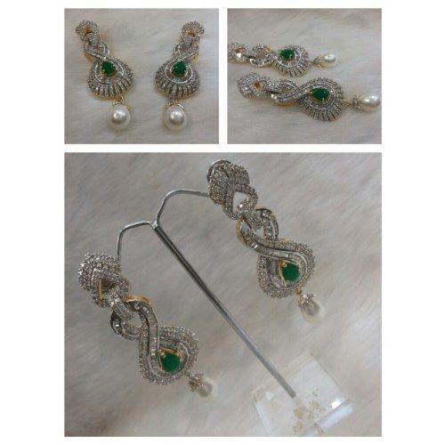 American Diamond Ear Ring - Online Shopping for Earrings by Saachi
