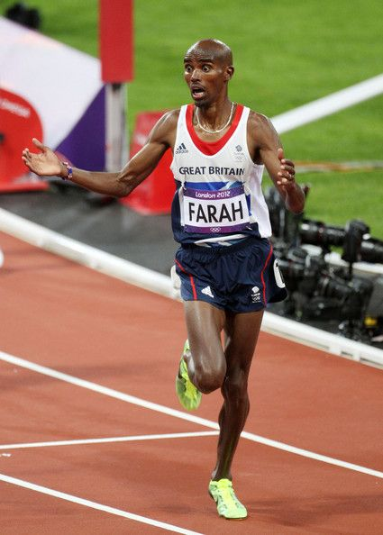 Mohamed Farah of Great Britain delighted the home crowd by taking the gold medal in the 10000m final finishing ahead of Galen Rupp and Tariku Bekele who took the bronze medal held at the Olympic Stadium, London Olympic Games 2012