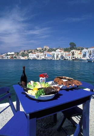 Kastellorizo is a Greek island that's closer to Turkey than to Greece. Its only settlement is the harbor village, which is lined with colorful neoclassical houses. Hike the zigzag path to the crag above town, and you might see flocks of bee-eater birds. The island is part of the birds' migration path.