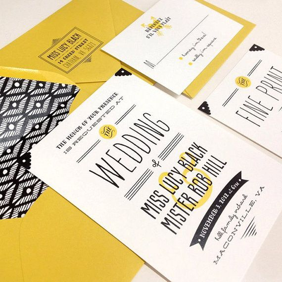 Bow Tie is bold with a sharp sense of fun!!    Bow Tie can be flat printed, letterpressed, or sent to you as a PDF to print locally or at home. Also