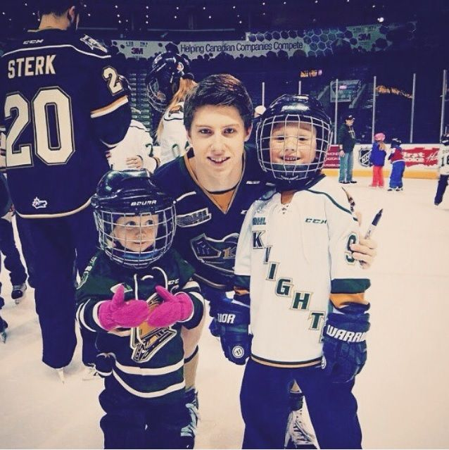 home.of.the.habs MITCH Marner with kids