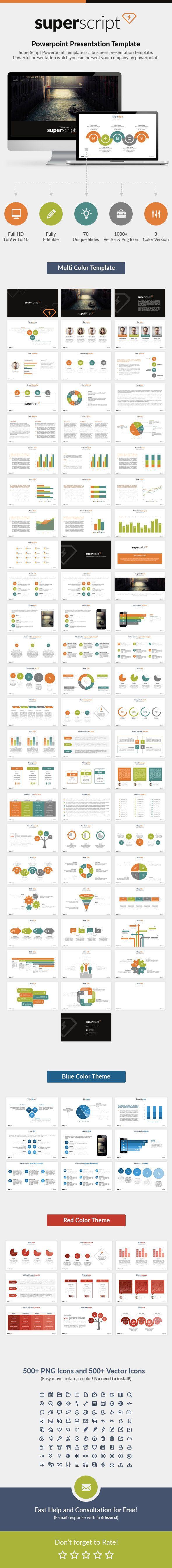 Superscript Powerpoint Presentation Template (PowerPoint Templates)