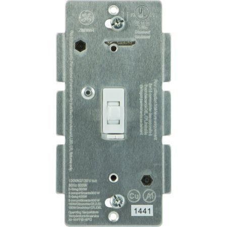 GE Z-Wave In-Wall CFL-LED Dimmer Switch, White