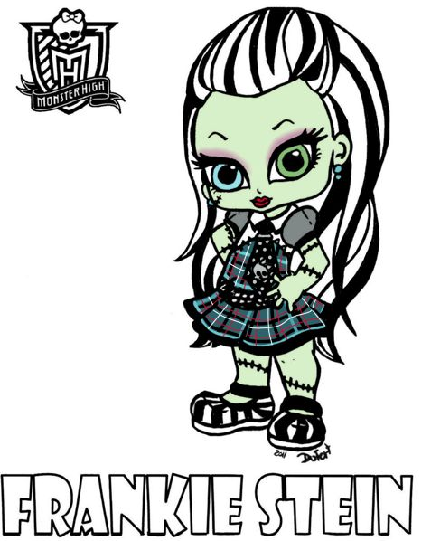 baby draculaura coloring pages - photo#29