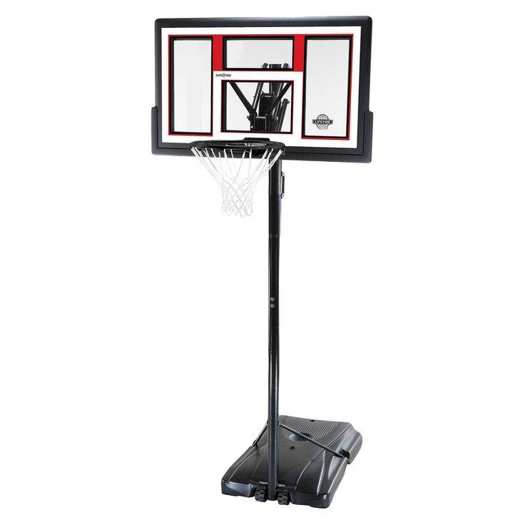 Lifetime Speed Shift 50 Portable Basketball Hoop, Black/Hyper Orange I