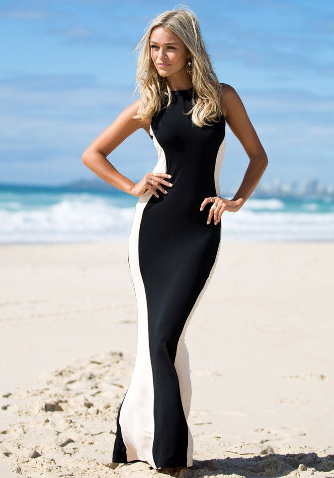Glam Maxi Dress - Gorgeous Color Matching Dress