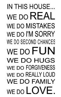 Family wall quote~ I so doing this on my wall!