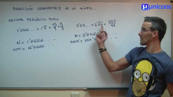 UD 2 Fraccion generatriz de un decimal periodico puro SECUNDARIA (2ºESO) mate...