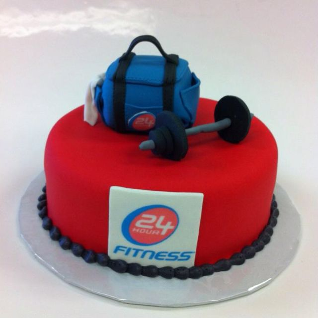 Cake Designs For Gym Lovers : 24 hour fitness cake romantic ideas Pinterest