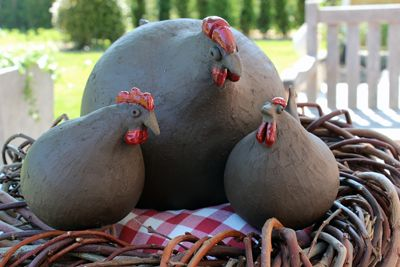 Wilde Hühner- Wild chickens handmade by www.kathrinsgarten.de