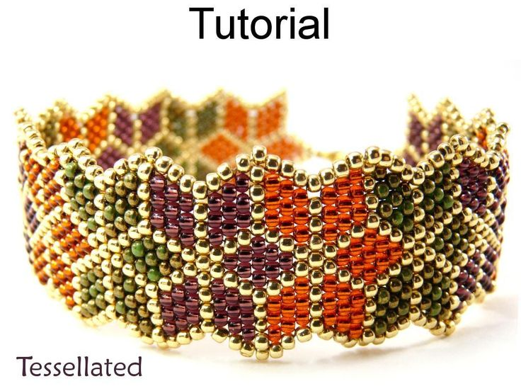 Tessellated Brick ... by SimpleBPatterns | Jewelry Pattern - Looking for your next project? You're going to love Tessellated Brick Stitch Bracelet #10068 by designer SimpleBPatterns. - via @Craftsy