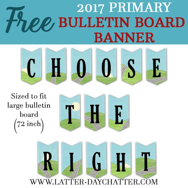 Latter-day Chatter: 2017 Large Bulletin Board Banner