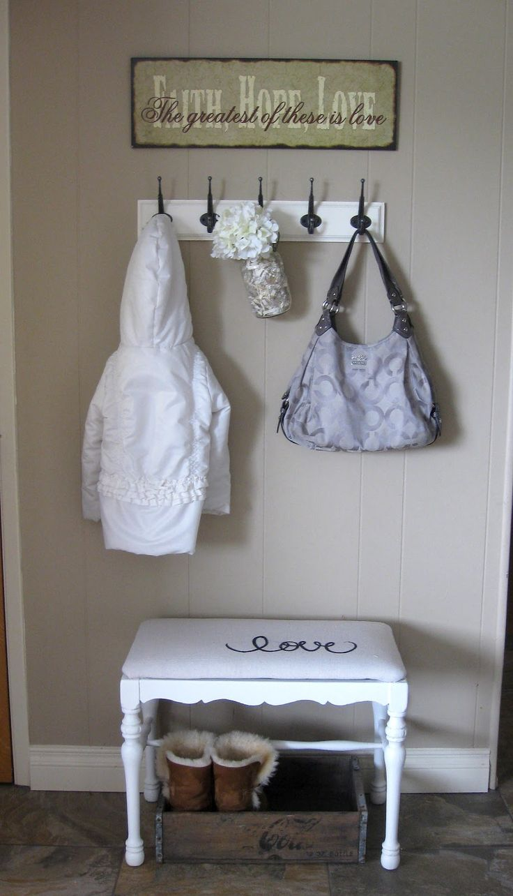 small entryway ideas | did this Sunday night, and (gasp) didn't take a before picture!