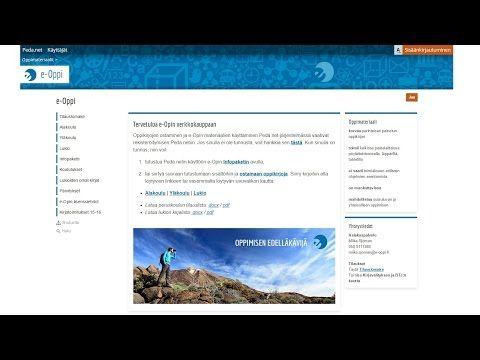 e-Opin peruskoulun Peda.net-materiaalien esittely - YouTube