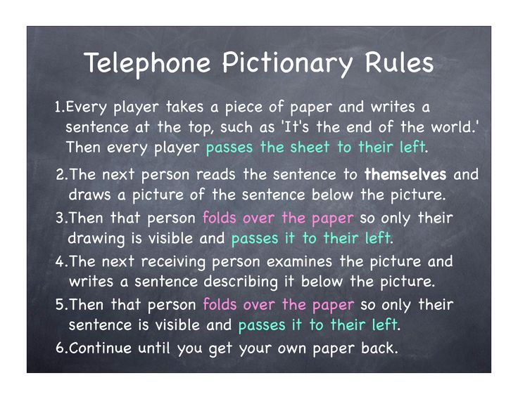 Pictionary Telephone. Hilarious with a big group!