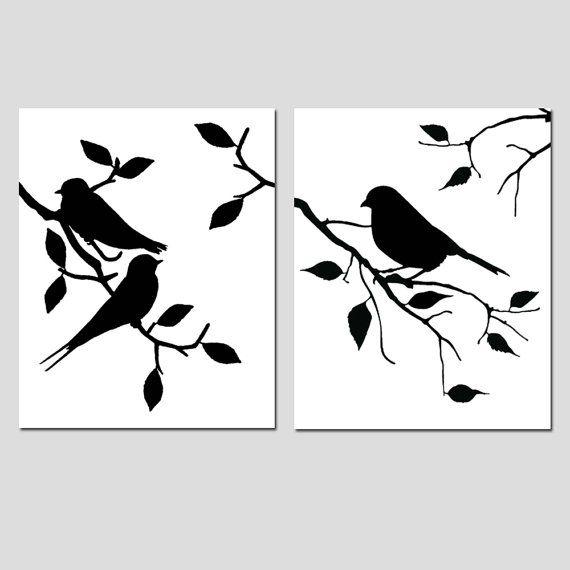 Uccelli di una piuma Duo Set di 8 x due 10 uccelli di Tessyla