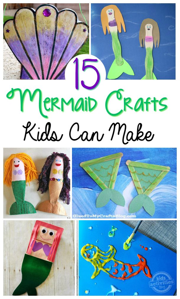 The 15 Best Mermaid Crafts! Time to flip your fins over some exciting and fun mermaid kid crafts and activities! Easy and cute mermaid activities for boys and girls!