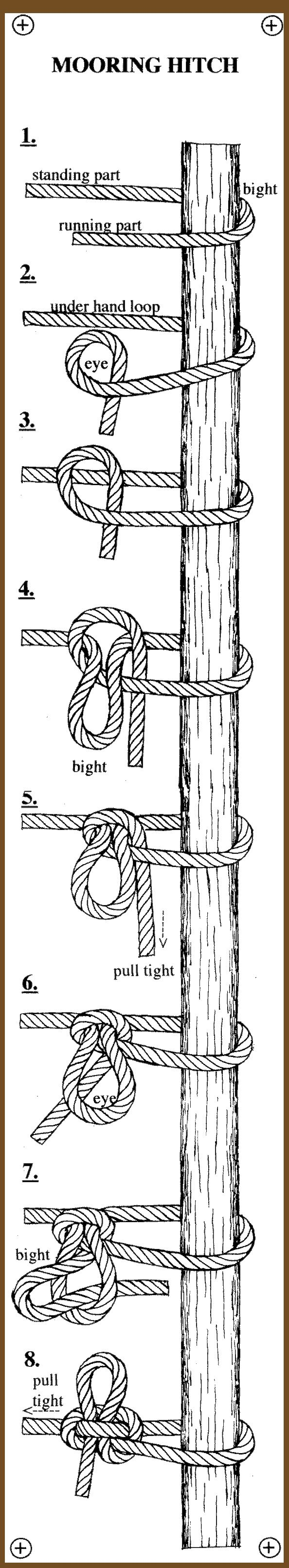 http://www.paracordist.com repin : mooring hitch #knot